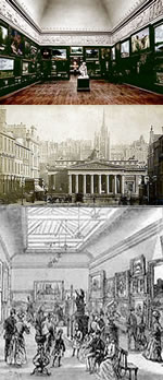 Bristol Society of Artists, founded 1844; Royal Scottish Academy, founded 1826; Leeds Academy of Arts, founded 1853