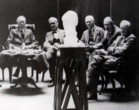 Selection committee of the Royal Academy of Arts annual exhibition, 1933, Gilbert Ledward archive,  Henry Moore Institute